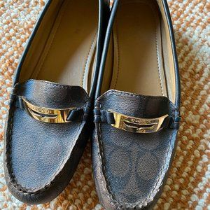 Signature jacquard leather slip-on loafer